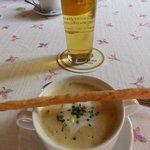 creamy wild mushroom soup with light beer