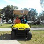 golf cart we rented