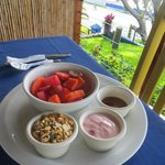 Fresh tropical fruit, granola, yogurt and honey for breakfast #1 of 2 everyday