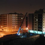 Night time construction ..View from balcony