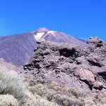 snow fall on Teide even in November