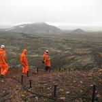 The trek across the lava field