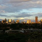 The stunning Nairobi city skyline at sunset.