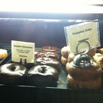 I had both the Pumpkin & Double Chocolate cake doughnuts.