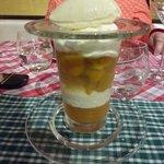 Liégeois mirabelles, sorbet yaourt
