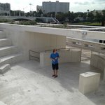 Our fabulous tour guide, Dylan, in the Curtis Hixon Park Amphitheater