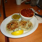 Fish Cakes & Baked Beans - not bad, but not great, average.