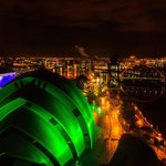 View from the top of Crowne Plaze in Glasgow