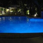 Pool at night - have a drink and hang out
