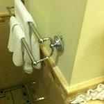 Room 7520 Broken Towel Rack in Bathroom