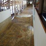 mosiacs on hallway