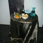 Il buffet dopo la Luxury Suite