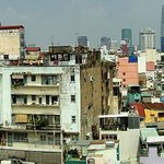 Daytime panorama view from rooftop