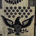 English style coverlet with an eagle