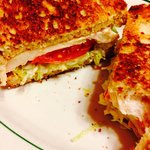 Wonderful grilled chicken in toasted wheat sand which