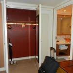 suite closet and bathroom