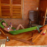hamock, sun beds, chairs and table to enjoy at bungalow 18