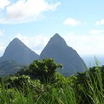 View of the PITON'S taken from in front of Orando's