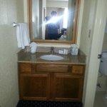Sink and vanity outside bathroom