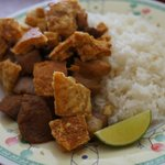 Chicharrones with white rice