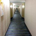Clean, bright, enclosed hallways