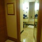 bathroom viewed from foyer