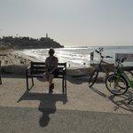Joppa from boardwalk/ bike trail / beach area.