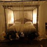 The bedroom in the Baker Suite