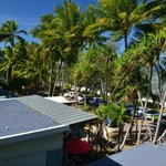 Looking from the front Balcony at Palm Cove beack