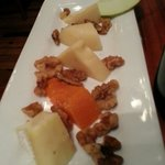 Cheese platter... could have used a few more Apple slivers. The cheeses were soooo good & just m