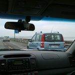 Driving across Via Liberta