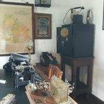Dentro de la oficina del Jefe de Estación