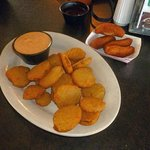 Love those fried pickles. And the complimentary hush puppies.
