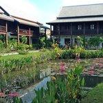 Hotel and Ornamental Pond