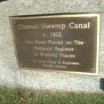 Brass Sign at the Dismal Swamp Canal park