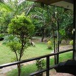 Вид на внутренний сад из нашего номера