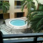Our hot tub in the caribe block