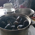 Mussels in traditional pot in Pier Head Kinvara