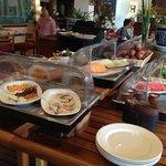 Breakfast buffet or part of it