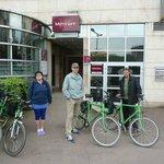 Старт велопробега от отеля Mercure в Тьонвиле