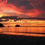 Plage Nay Yang, coucher de soleil au restaurant