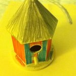 Kids made a bird house on another day. We brought it home w us.