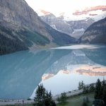 View of Lake Louise from our room.