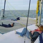 relaxing on boat
