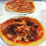 Pizza tartufo e prosciutto crudo
