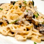 Tagliatelle with wild mushrooms and truffle