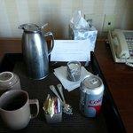 Free soda and coffee