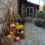 Harvest bounty near the entrance to the lodge