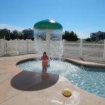 My daughter enjoying the kiddie pool