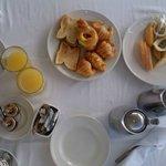 Desayuno en en el cuarto